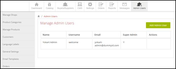 Multi-vendor Ecommerce Demo Admin management