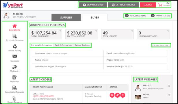 Multi-vendor Ecommerce Demo Buyers