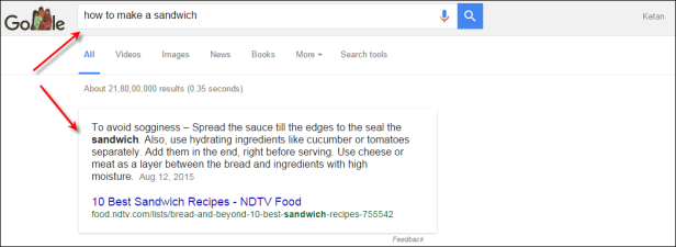 Google offers Instant Answers Right in the Chrome's Search bar