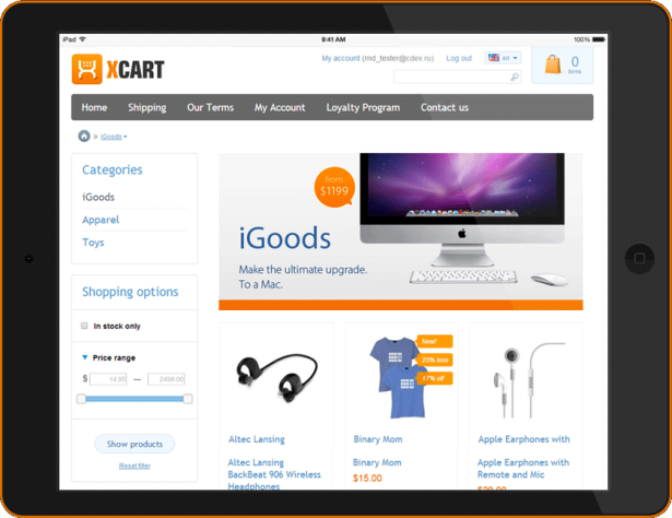 Ecommerce Shopping Cart System: X-cart