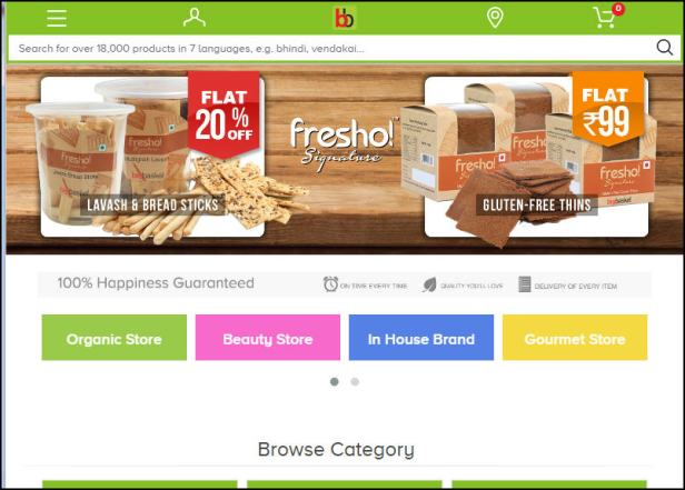 India's largest online food and grocery store