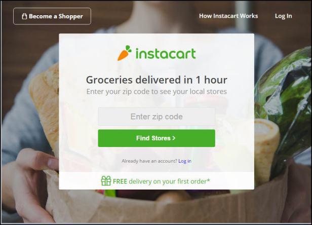 Get groceries delivered to your door in 1 hour