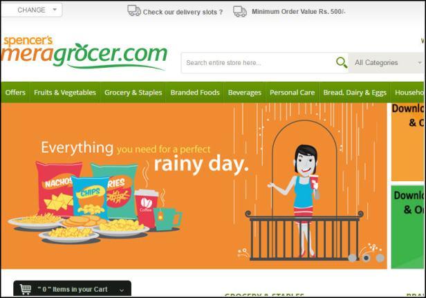 India's premier online convenience store